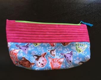 cat lovers zippered pouch