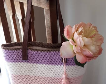 Digital Crochet  Bag Pattern.   Easy and Quick.   Weekend project