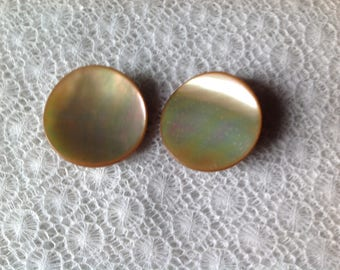 Set of two large 31mm mother of Pearl buttons