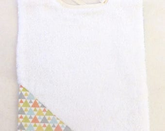 Bib is double sided: cotton fabric and sponge - free shipping