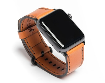 Porter - Wickett & Craig® Full Grain Leather Apple Watch Band - Tan | Made in USA