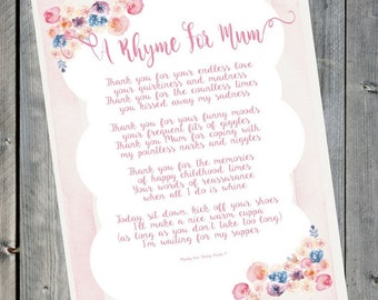 Gifts for Mum   Mothers Day Print    Mum Gift   Mother of the Groom   Mum Birthday   Mothers Birthday   Mothers Day   Mothers Day Sign