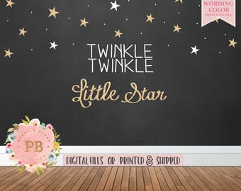 Digital Twinkle Twinkle Little Star Backdrop, Twinkle Little Star Birthday Backdrop, Twinkle Little Star Baby Shower Backdrop, Sweet Table