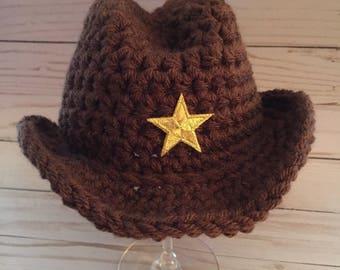 Newborn Cowboy hat, Crochet cowboy hat, cowgirl hat, cowboy hat, baby cowboy, newborn cowboy, newborn photo prop, cowboy baby shower