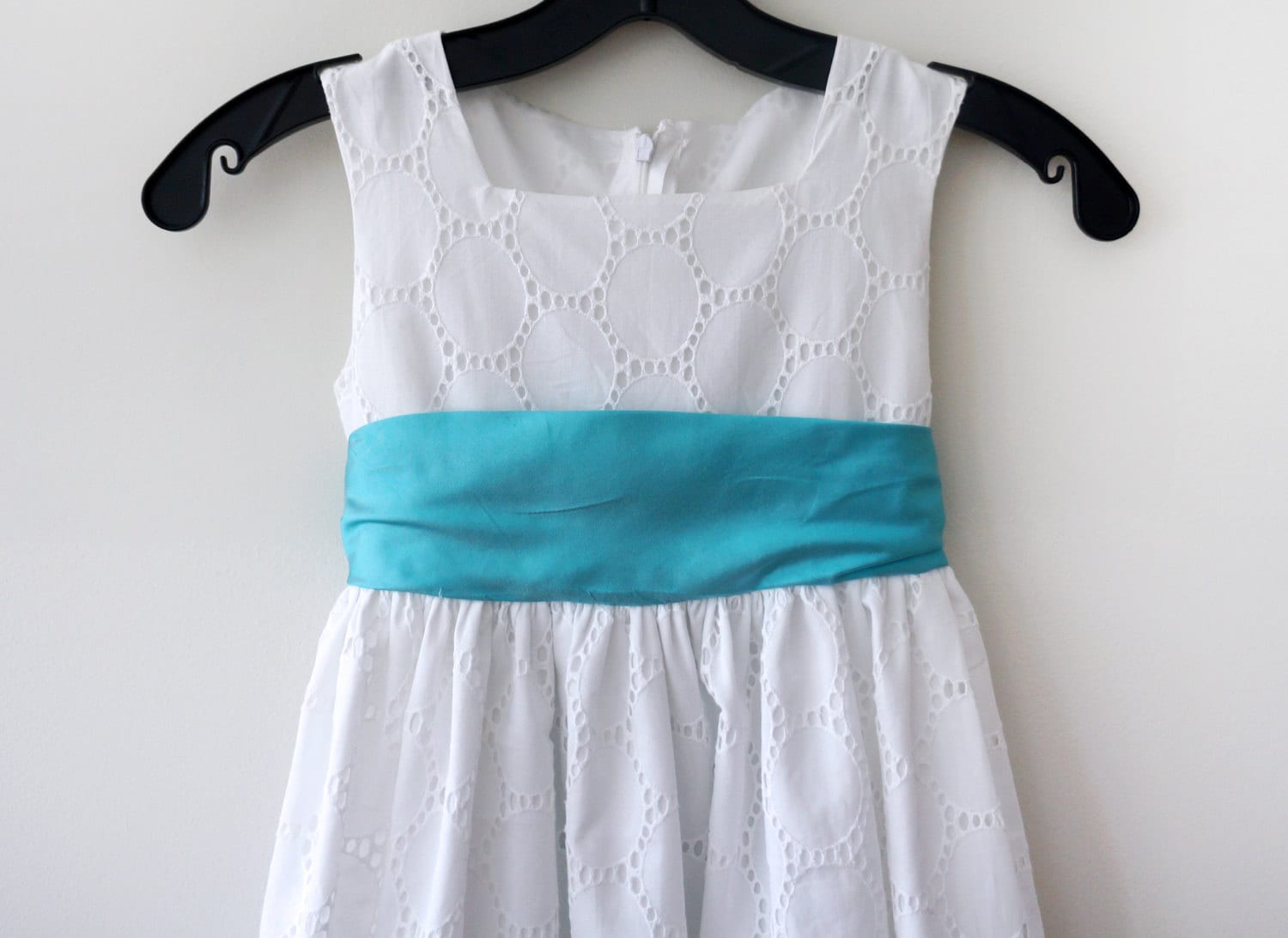 Eyelet lace dress with aqua blue sash flower girl dress eyelet eyelet lace dress with aqua blue sash flower girl dress eyelet dress custom color flower girl dress toddler girls summer dress izmirmasajfo