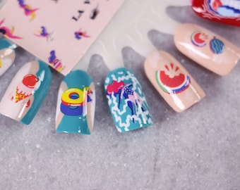 Collabration Nail Decals: The Ultimate Summer Water Nail Decals by Marylou Faure Summer Sale!!!