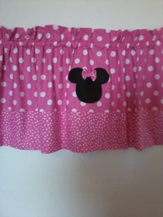Minnie Mouse Pretty In Pink Curtain Valance