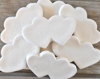 DIY Double Hearts Wedding Supplies Set of 10 Heart Unfinished Salt Dough Ornaments