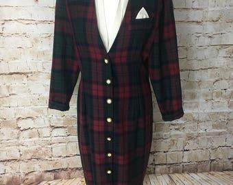 Vintage grunge tartan dress