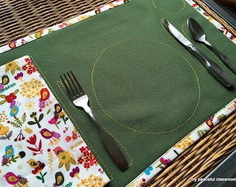 How to Set My Place at the Table:  An Organic Cotton Place Setting for the Child