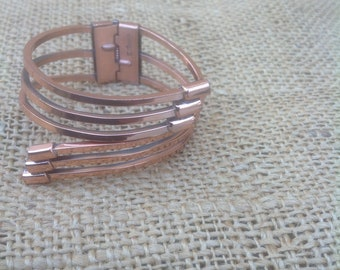 Renoir Copper Cuff Hinged Bracelet