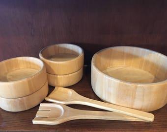 Wooden Salad Serving Set