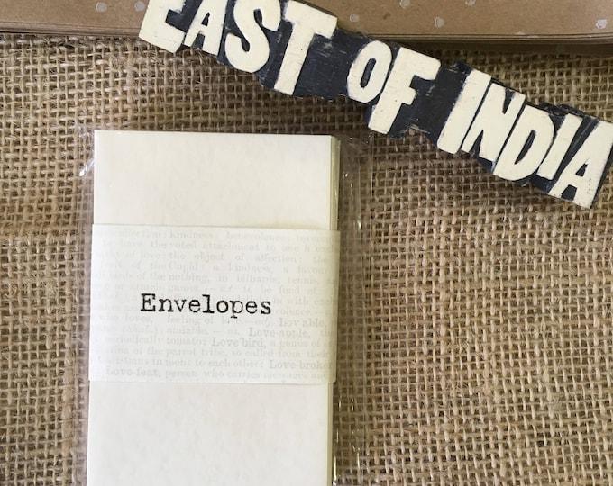 East of India Miniature envelopes