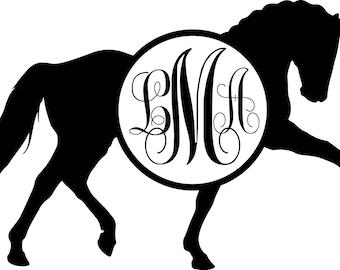 Monogram Dressage Horse
