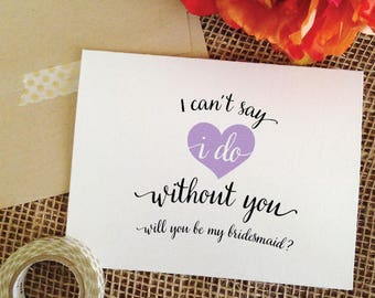 Lavender Bridesmaid Proposal Purple Bridesmaid Proposal, will you be my bridesmaid, maid of honor, matron of honor proposal
