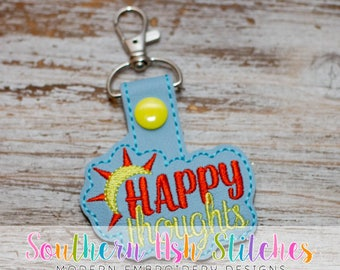 Happy Thoughts SnapTab Embroidery Digital Download