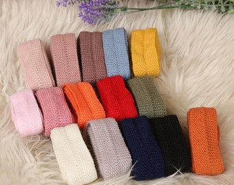 "1.2"" Wool ribbon-1/2/6 yard-Knitted ribbon tape 15color-Craftt Supplies-Wool binding-Ribbon tape trim-100% wool ribbon tape trim-RIBBONNKIDS"