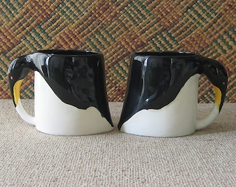 2 Ceramic Penguin Mugs