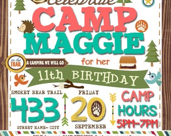 Camping Birthday Party- Girl