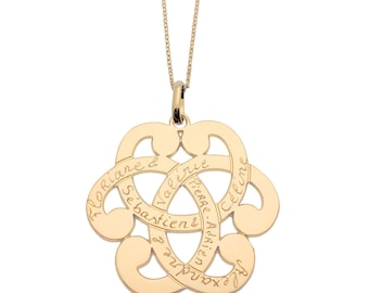 Personalized women arabesque necklace gold plated