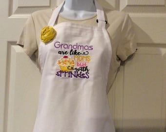 Grandma's are Sprinkles, apron, chef apron, grandma