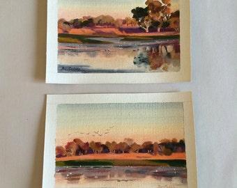 Aussie Outback Billabong Künstlers Bev Gribble (2-er Set)