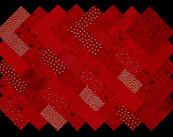 """DARK RED Prints 4"""" Squares, 100% cotton Prewashed , Quilt Block Fabric  (#A4A)"""