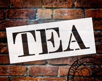 Tea - Skinny Serif - Word Stencil - Select Size - STCL2064 - by StudioR12