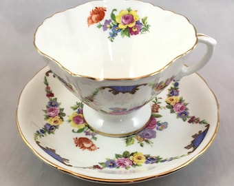 Hammersley Floral Garland Teacup and Saucer