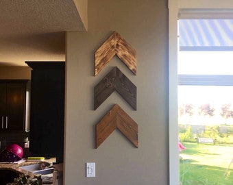 Large Wood Chevron Arrows (Listed Individually)