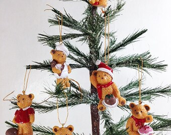 Vintage 6 Miniature Teddy Bears (per each set)