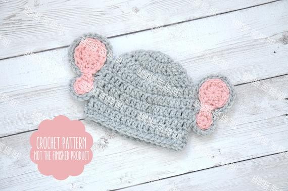 Crochet Pattern Crochet Baby Elephant Hat Pattern Newborn Photo