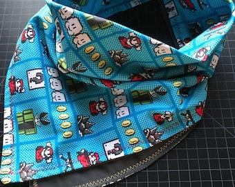 MADE TO ORDER-Handmade Old School Nintendo Bandana-Made Just For You-Customizable Color Options-Snapback Scarf Bandana