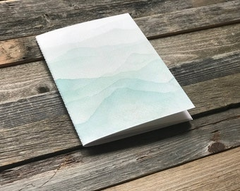 Blank Notebook Journal Mountain Design | Simple Watercolor | Travel Journal | Gifts for Her | Idea Notebook | Jotters | Diaries | Books