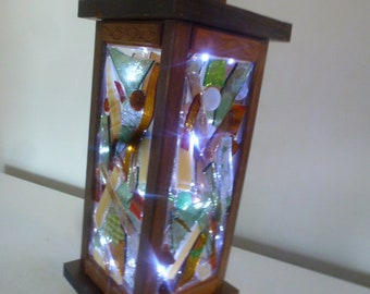 Hand Made Decorative Stained Glass Lantern