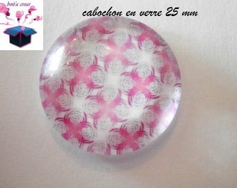 1 cabochon clear 25 mm round spring theme