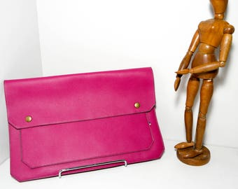 Pink pouch LOAZ CRo17 cowhide leather
