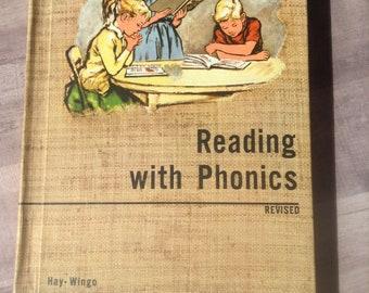 Reading with Phonics, Revised 1960, Hay-Wingo, J. B. Lippincott Company, library book