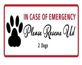 Emergency Pet Rescue Window Decal/Sticker