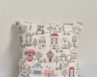Beach House Cushion / Homeware / Home Decor / Interior / Style / Beach Hut / Pastel
