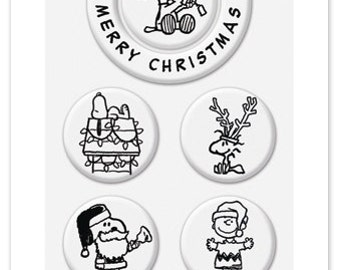 Peanuts Christmas Wishes Stamps - Switchable Middle Stamps, Clear Stamps, Christmas, Snoopy, Lucy, Charlie Brown