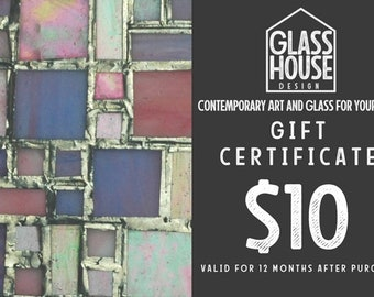 10 Dollar Gift Certificate ~ Gift for Mom ~ Printable Gift ~ Art Gifts ~ Gift Ideas ~ Ten Dollar Gift Card ~ Print At Home ~ Abstract Art