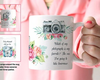 Coffee Mug Photography Quotes and Cameras Coffee Mug - Great Gift for Photographer