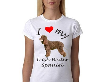 Irish Water Spaniel shirt - Picture of Irish Water Spaniel dog on shirt