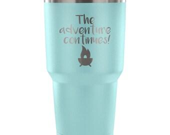 Camper Tumbler - Travel Tumbler - Camping Accessories - Camping Cup - Adventure Cup - Adventure Tumbler - Travel Cup