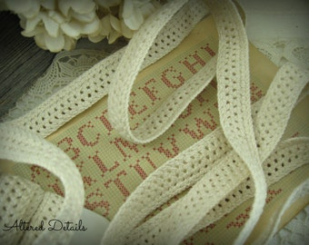 Vintage French Crochet Lace Edging (1 yard)