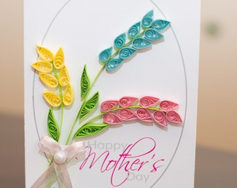 Mother Quilling card