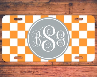 Tennessee Monogram License Plate TN Custom Car Tags Monogrammed Tag Customized Car Plate Personalized Gifts - Customize your own!