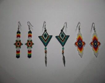 Lion Brick Stitch Delica Seed Bead Pattern Beadwoven Jewelry