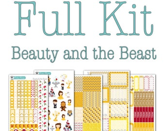 Beauty and the Beast Collection - Disney Planner Stickers